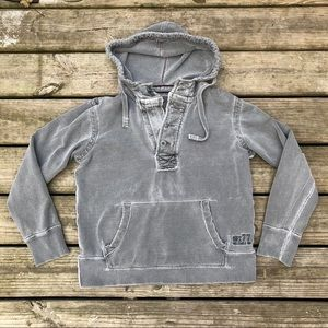 American eagle grey faded pullover hoodie